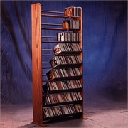 Wood Shed Deluxe 504 CD Multimedia Storage Rack; Dark