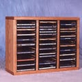 Wood Shed 300 Series 60 CD Multimedia Tabletop Storage Rack; Unfinished