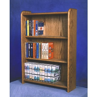 Wood Shed 300 Series 120 DVD Multimedia Storage Rack; Natural