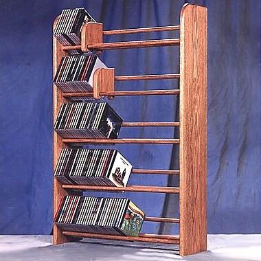 Wood Shed 500 Series 275 CD Multimedia Storage Rack; Clear