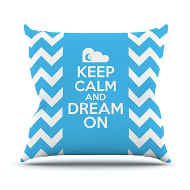 KESS InHouse Keep Calm Throw Pillow; 20'' H x 20'' W