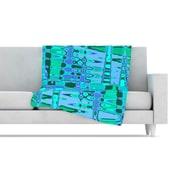 KESS InHouse Changing Gears Fleece Throw Blanket; 40'' L x 30'' W