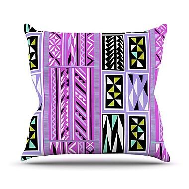 KESS InHouse American Blanket Pattern II Throw Pillow; 18'' H x 18'' W
