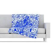 KESS InHouse Bloom Blue for You Fleece Throw Blanket; 80'' L x 60'' W