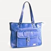 Clark & Mayfield Stafford Vintage Laptop Tote Bag; Cobalt Blue