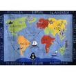 Rug Factory Plus Zoomania World Map Kids Rug; 5' x 7'