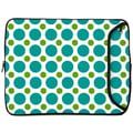Designer Sleeves 10'' Netbook and iPad Sleeve; Green and Teal