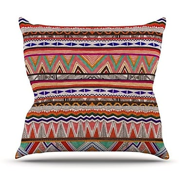 KESS InHouse Native Tessellation Throw Pillow; 26'' H x 26'' W