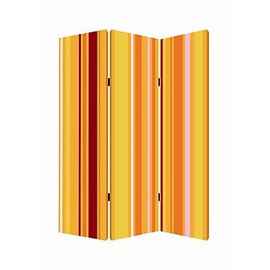 Screen Gems 72'' x 48'' Deep Saffron 3 Panel Room Divider