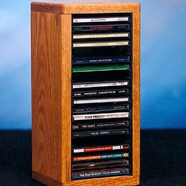 Wood Shed 100 Series 20 CD Dowel Multimedia Tabletop Storage Rack; Dark
