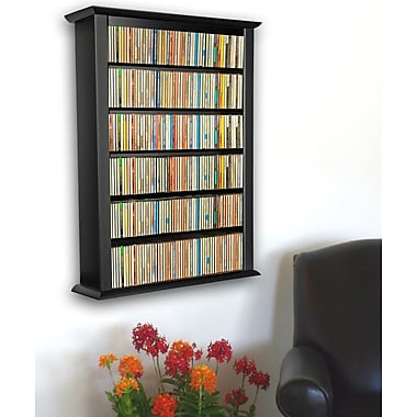 Venture Horizon VHZ Entertainment Single Wall Mounted Storage Rack; Black