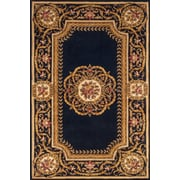 Momeni Harmony Hand-Tufted Black/Gold Area Rug; 5' x 8'