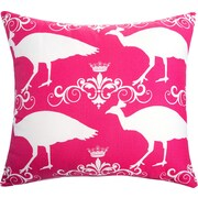 The Well Dressed Bed Peacock Accent Cotton Throw Pillow; Candy Pink