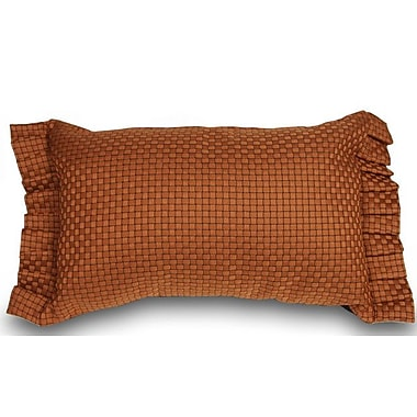 The Well Dressed Bed Basket Weaved Ruffled Accent Throw Pillow