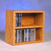 Wood Shed 200 Series 52 CD Multimedia Tabletop Storage Rack; Natural