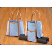 Crescent Moon Convertible Tote in Blue and Tan