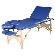 Sivan 3 Fold Reiki Portable Massage Table and Carrying Case; Blue