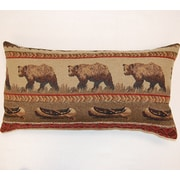 Dakotah Pillow River Trail Lumbar Pillow (Set of 2); Wine
