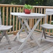 Adams Mfg. Corp. Quik-Fold Cafe Table; Desert Clay