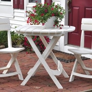 Adams Mfg. Corp. Quik-Fold Cafe Table; White