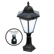 Nature Power Essex Solar Lamp in Black, 2 Mounting Options