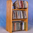 Wood Shed 300 Series 78 CD Dowel Multimedia Tabletop Storage Rack; Clear