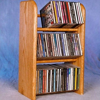 Wood Shed 300 Series 78 CD Dowel Multimedia Tabletop Storage Rack; Natural