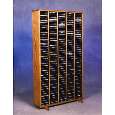 Wood Shed 400 Series 400 CD Multimedia Storage Rack; Natural