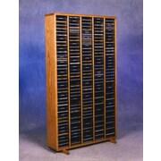 Wood Shed 400 Series 400 CD Multimedia Storage Rack; Natural
