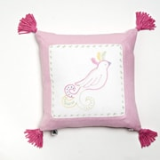 Whistle and Wink Princess Cotton Throw Pillow; Pink