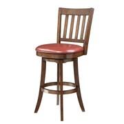 Inspired by Bassett 30'' Swivel Bar Stool; Crimson Red