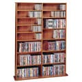 Leslie Dame Deluxe Multimedia Storage Rack; Cherry