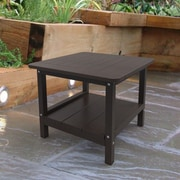 Malibu Outdoor Living End Table; Dark Brown