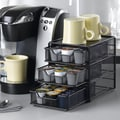 Nifty Home Products 36 Coffee Pod Drawer in Black Satin