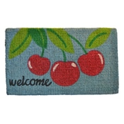 Imports Decor Welcome Cherry Mat; 30'' x 18''