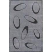 American Home Rug Co. Casual Contemporary Grey / Black Le Cirque Area Rug; 5' x 8'
