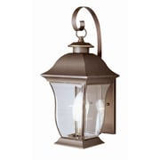 TransGlobe Lighting Outdoor 2 Light Wall Lantern; 18'' H x 7.25'' W / Weathered Bronze