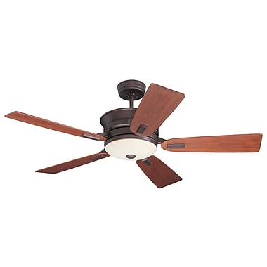 Emerson Fans 52'' Transitional Highgrove 5 Blade Ceiling Fan; Venetian Bronze with Walnut Blades