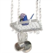Concept Housewares Square Stainless Steel Hanging Pot Rack