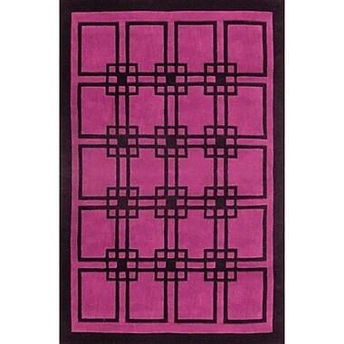 American Home Rug Co. Modern Living Omni Purple/Black Rug; 3'6'' x 5'6''