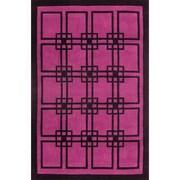 American Home Rug Co. Modern Living Omni Purple/Black Rug; 5' x 8'