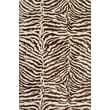 Bashian Rugs Norwalk with Art SilkIvory/chocolate Animal Print Area Rug; 3'9'' x 5'9''