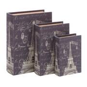 Woodland Imports Paris Eiffel Tower Theme Book Box (Set of 3)