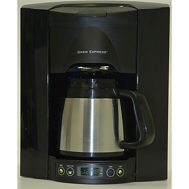 Brew Express 4 Cup Built-In-The-Wall Self-Filling Coffee and Hot Beverage System; Black
