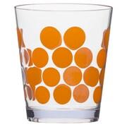 Zak! 1rDot Dot 14 oz. Double Old Fashioned Glass (Set of 6); Orange/Clear