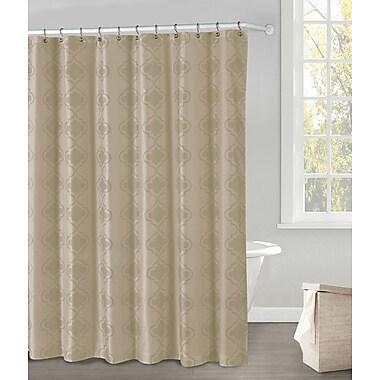 DR International Crystal Shower Curtain; Sand
