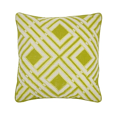Kosas Home Urban Origami Urbanista Linen Throw Pillow; Green