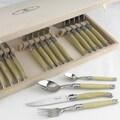 Jean Dubost Laguiole 25 Piece Flatware Set; Pearlized Ivory