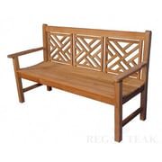 Regal Teak Teak Chippendale Garden Bench; 60''