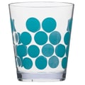 Zak! 1rDot Dot 14 oz. Double Old Fashioned Glass (Set of 6); Azure/Clear